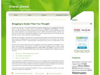 Old Theme At SharatJaswal.com