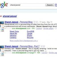 Sitelinks For SharatJaswal.com In Google