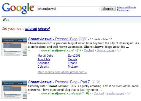 sharat jaswal sitelinks Sharat Jaswal.Com An Authority Site
