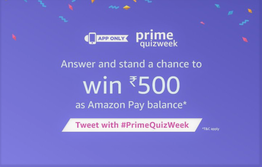 Answers To Amazon India Prime QuizWeek To Win INR 500