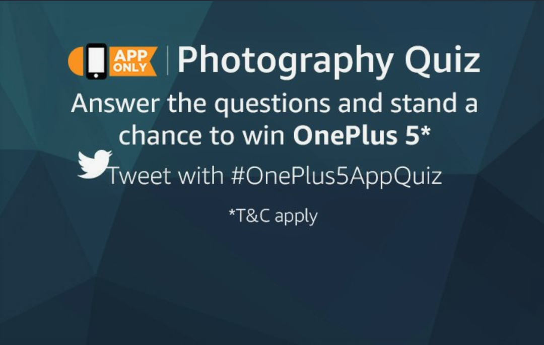 Win OnePlus 5 On Amazon India Photography Quiz