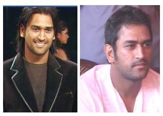 Mahendra Singh Dhoni Haircut Comparision