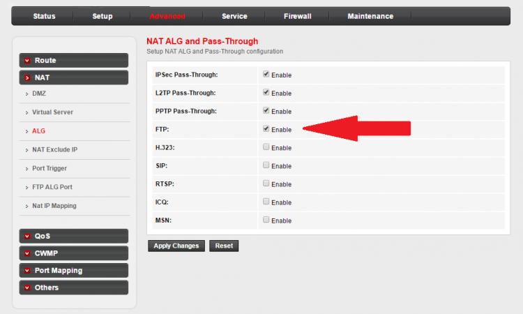 FTP Problem Airtel Beetel 777VR1