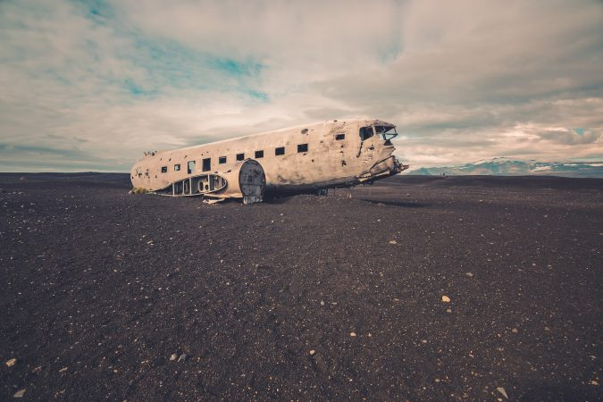 Abandoned Airplane, Iceland