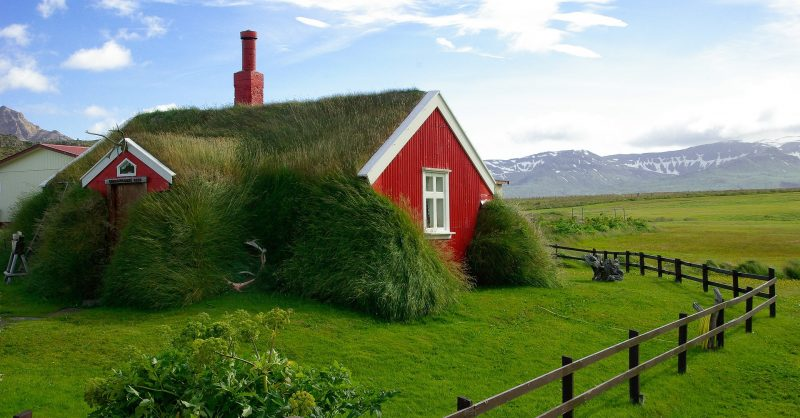 Grass Roofs For Houses, Iceland