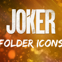 Joker Movie Folder Icons