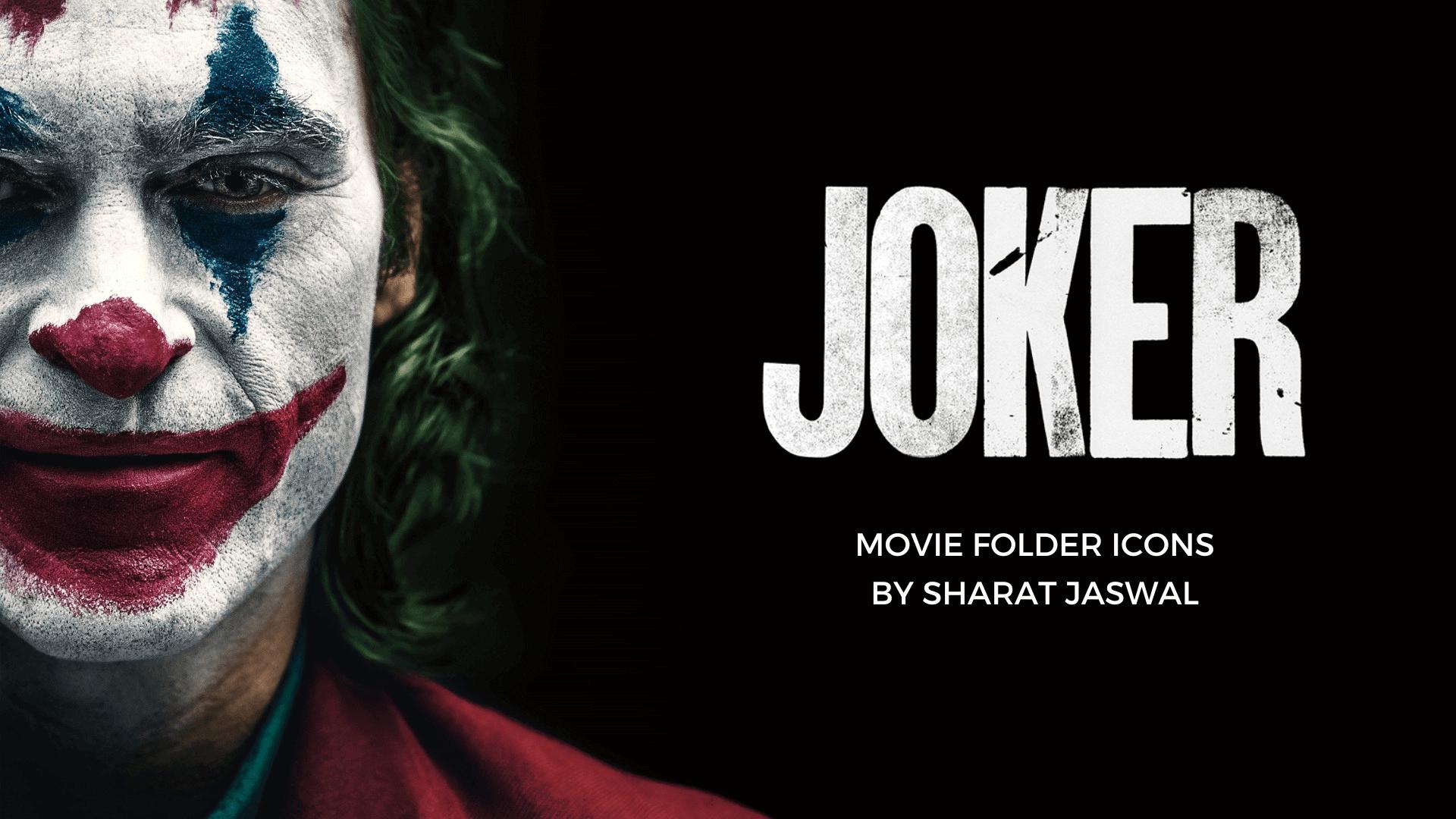 Joker 2019 Folder Icons
