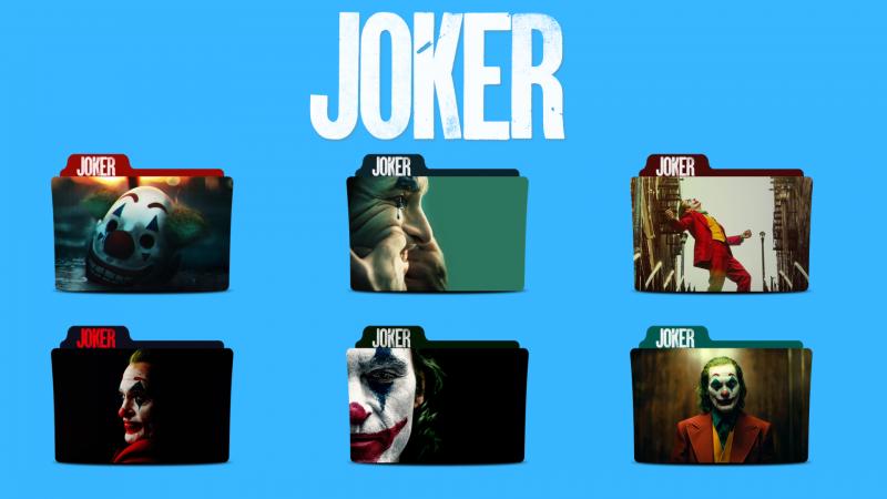 Joker Movie Folder Icons