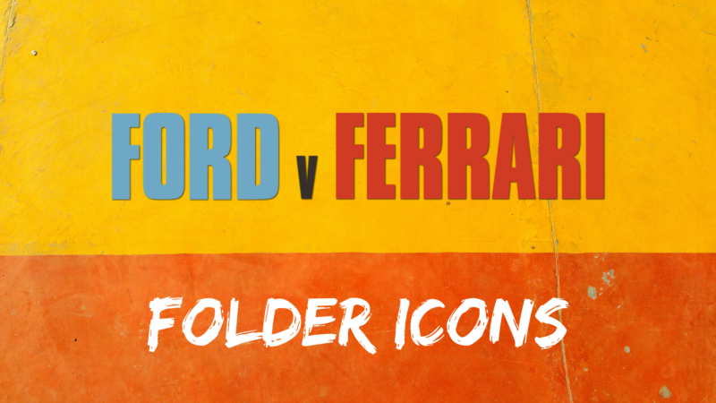 Ford v Ferrari Movie Folder Icons