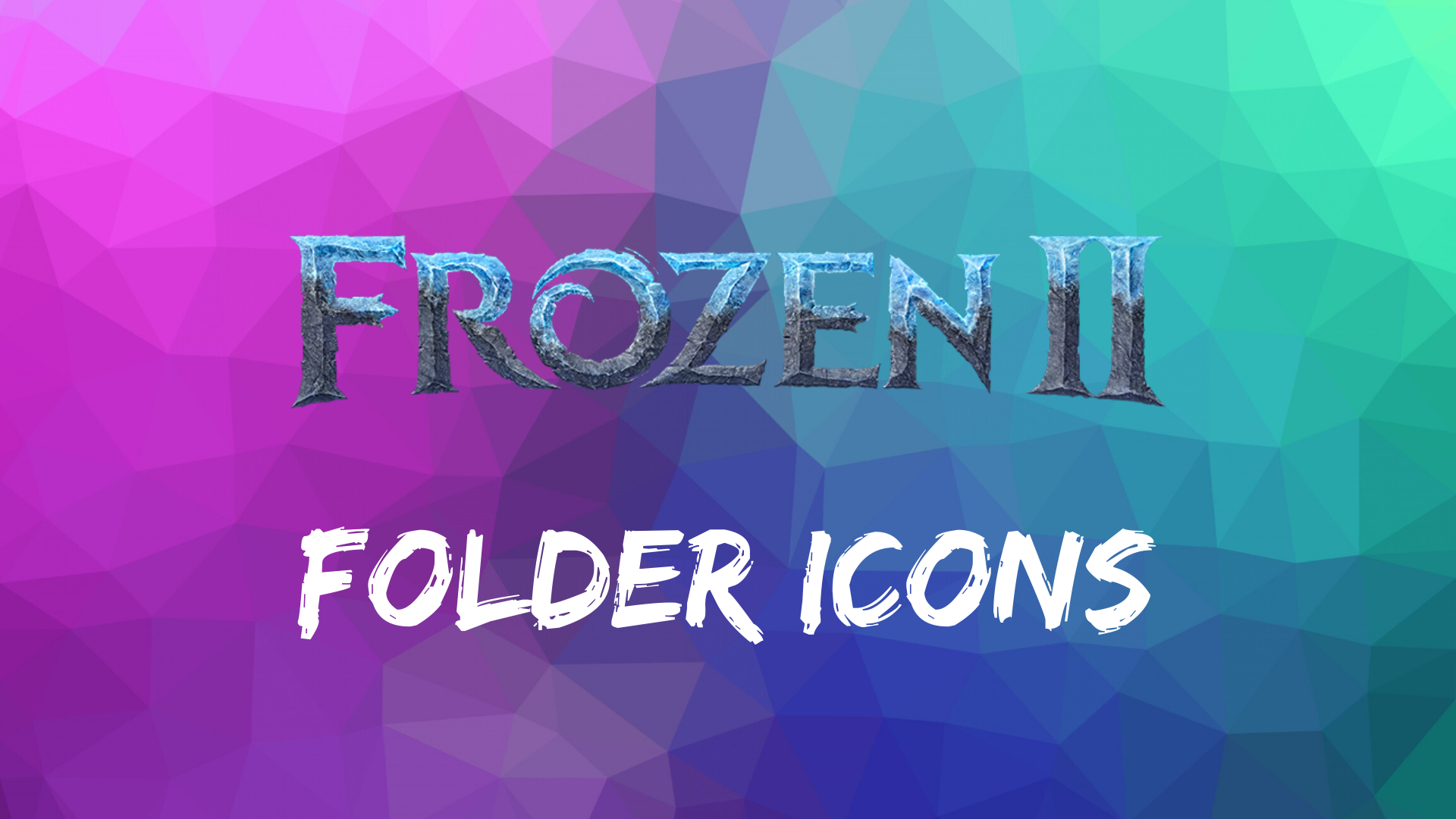 Frozen 2 Folder Icons
